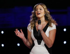Ayla Brown Performs at GOP Debate Live on CNN