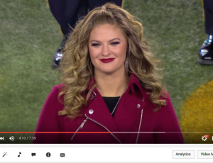 Ayla Brown Monday Night Football Anthem Performance