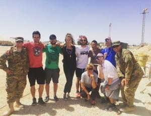 Ayla Brown Visits the Middle East with Armed Forces Entertainment