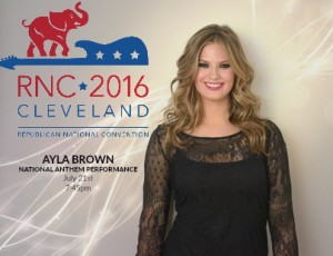 Ayla Brown Singing at the RNC in Cleveland